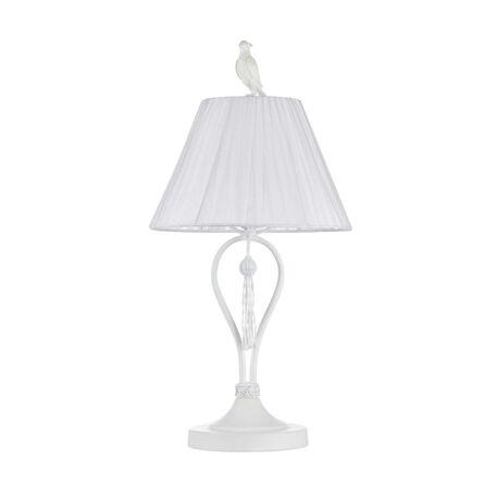 Настольная лампа Maytoni Cella ARM031-11-W, 1xE27x40W, белый, металл, текстиль