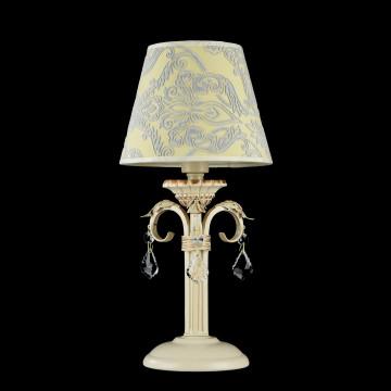 Настольная лампа Maytoni Velvet ARM219-00-G, 1xE14x40W, белый, матовое золото, бежевый, прозрачный, металл, текстиль, стекло - миниатюра 2