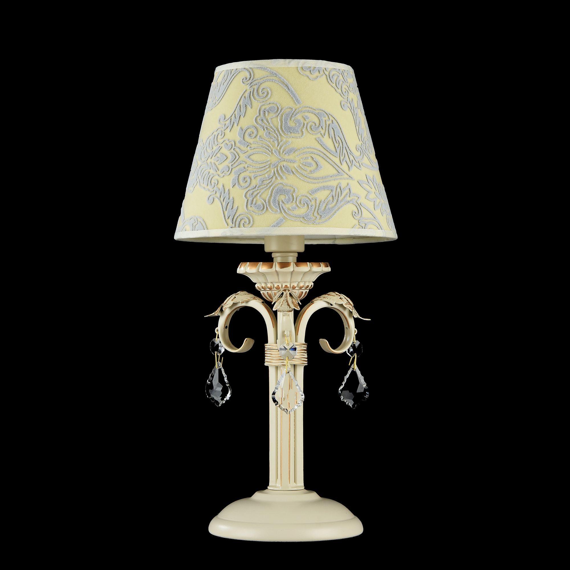 Настольная лампа Maytoni Velvet ARM219-00-G, 1xE14x40W, белый, матовое золото, бежевый, прозрачный, металл, текстиль, стекло - фото 2