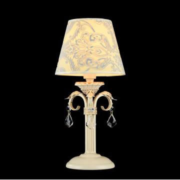Настольная лампа Maytoni Velvet ARM219-00-G, 1xE14x40W, белый, матовое золото, бежевый, прозрачный, металл, текстиль, стекло - миниатюра 3