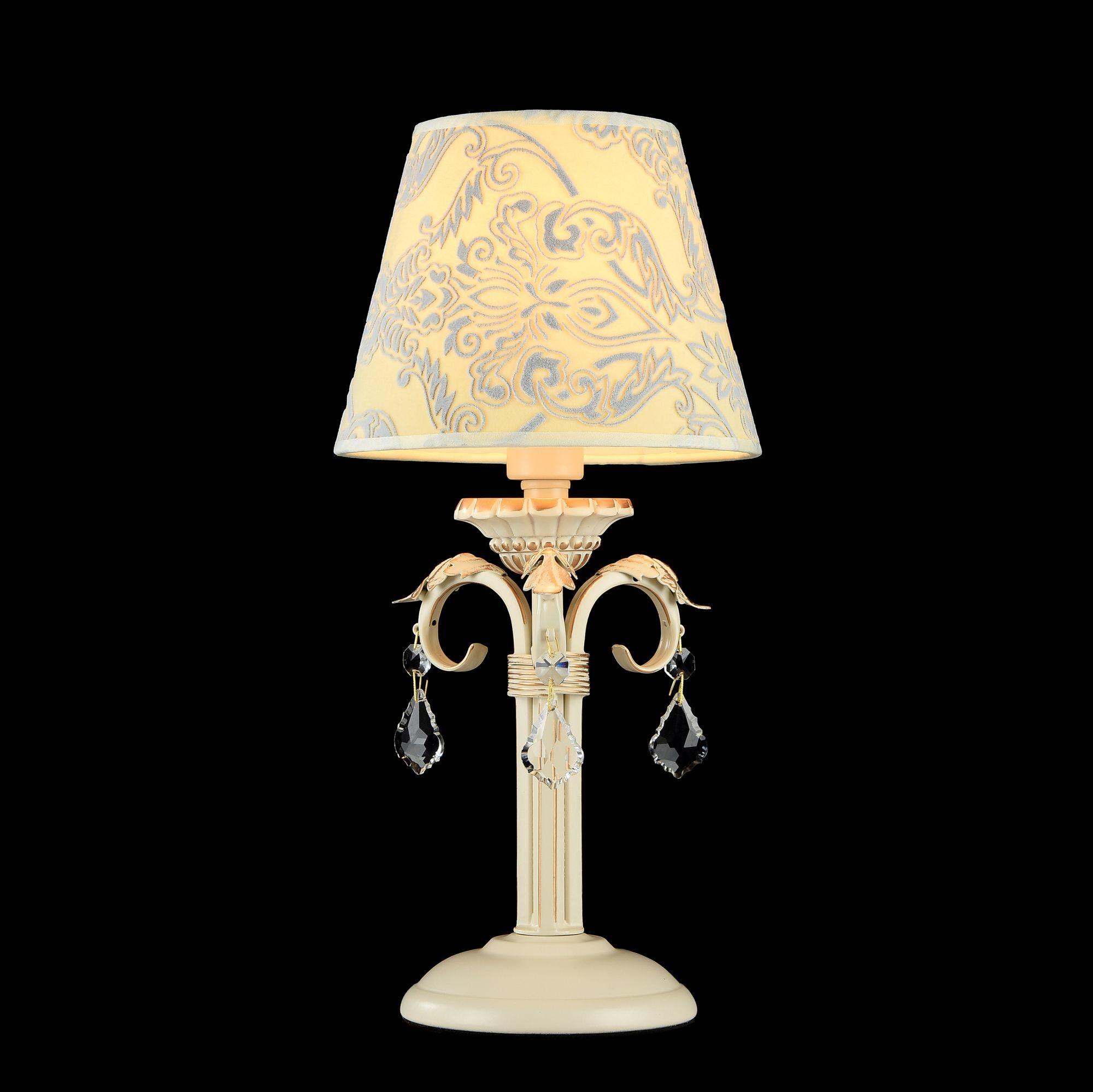 Настольная лампа Maytoni Velvet ARM219-00-G, 1xE14x40W, белый, матовое золото, бежевый, прозрачный, металл, текстиль, стекло - фото 3