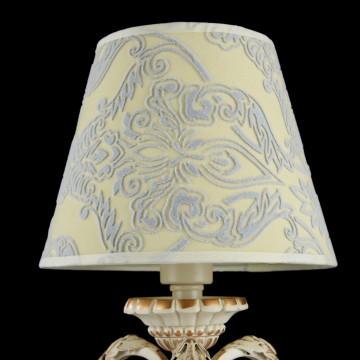 Настольная лампа Maytoni Velvet ARM219-00-G, 1xE14x40W, белый, матовое золото, бежевый, прозрачный, металл, текстиль, стекло - миниатюра 4