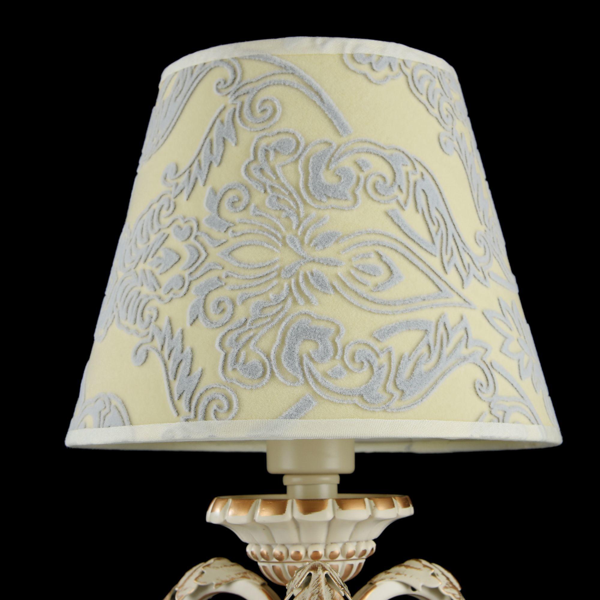 Настольная лампа Maytoni Velvet ARM219-00-G, 1xE14x40W, белый, матовое золото, бежевый, прозрачный, металл, текстиль, стекло - фото 4