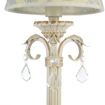 Настольная лампа Maytoni Velvet ARM219-00-G, 1xE14x40W, белый, матовое золото, бежевый, прозрачный, металл, текстиль, стекло - миниатюра 6