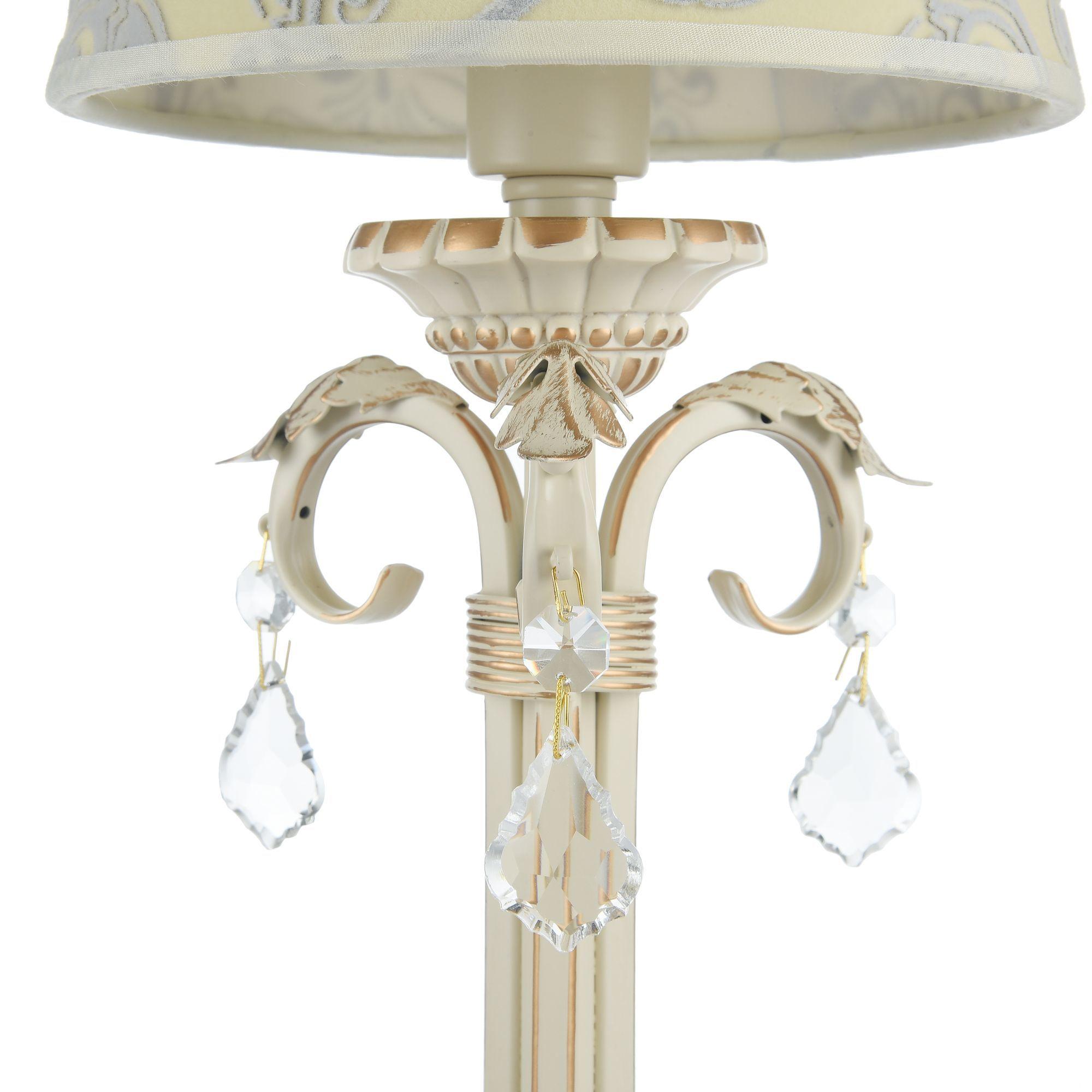 Настольная лампа Maytoni Velvet ARM219-00-G, 1xE14x40W, белый, матовое золото, бежевый, прозрачный, металл, текстиль, стекло - фото 6