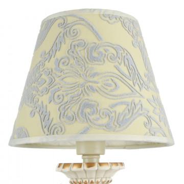 Настольная лампа Maytoni Velvet ARM219-00-G, 1xE14x40W, белый, матовое золото, бежевый, прозрачный, металл, текстиль, стекло - миниатюра 7