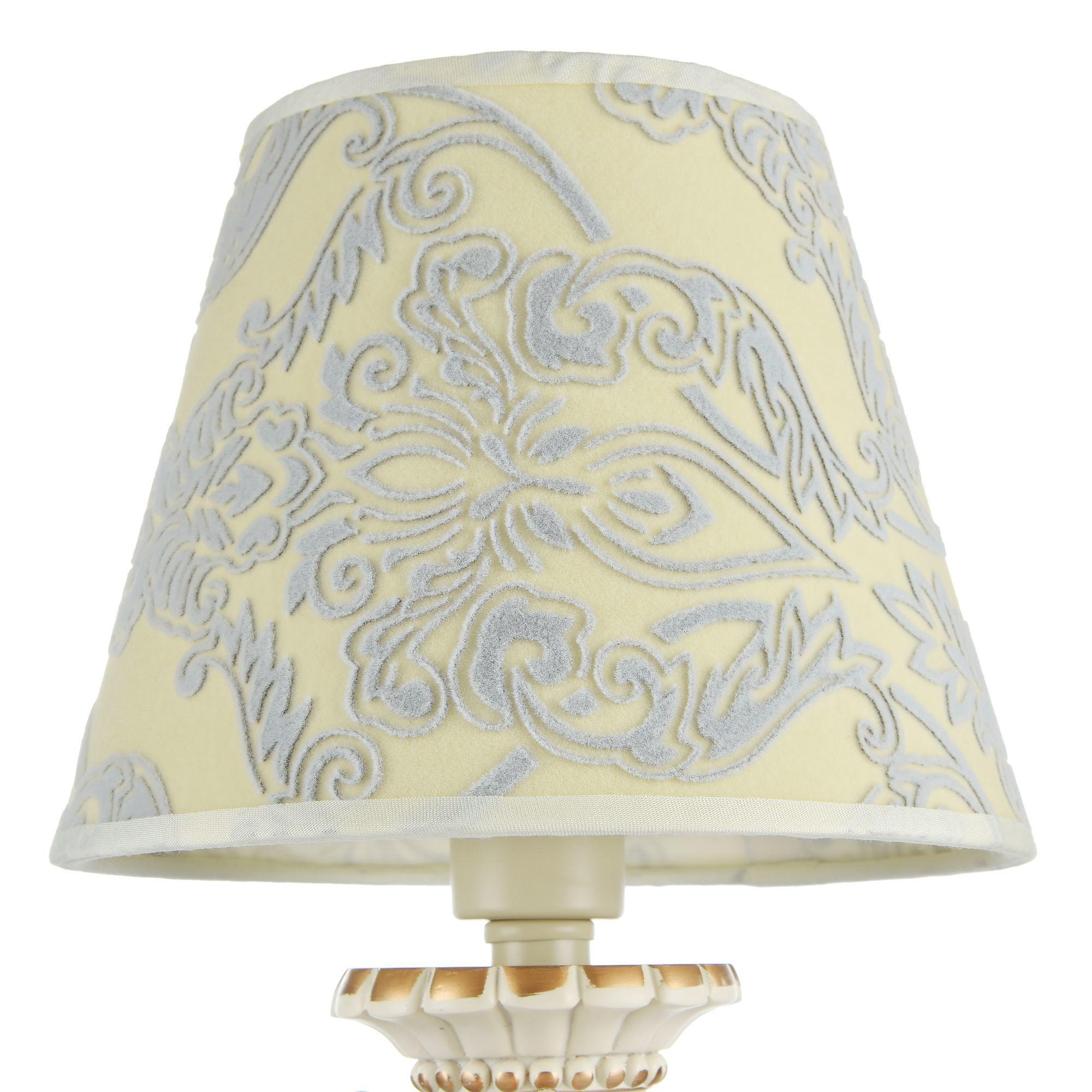 Настольная лампа Maytoni Velvet ARM219-00-G, 1xE14x40W, белый, матовое золото, бежевый, прозрачный, металл, текстиль, стекло - фото 7
