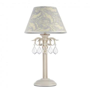 Настольная лампа Maytoni Velvet ARM219-22-G, 1xE14x40W, белый, матовое золото, бежевый, прозрачный, металл, текстиль, стекло