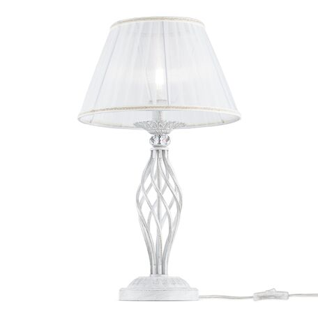 Настольная лампа Maytoni Grace ARM247-00-G, 1xE14x40W, белый с золотой патиной, белый, металл, текстиль