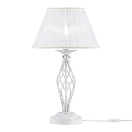 Настольная лампа Maytoni Grace ARM247-00-G, 1xE14x40W, белый с золотой патиной, белый, металл, текстиль - миниатюра 2
