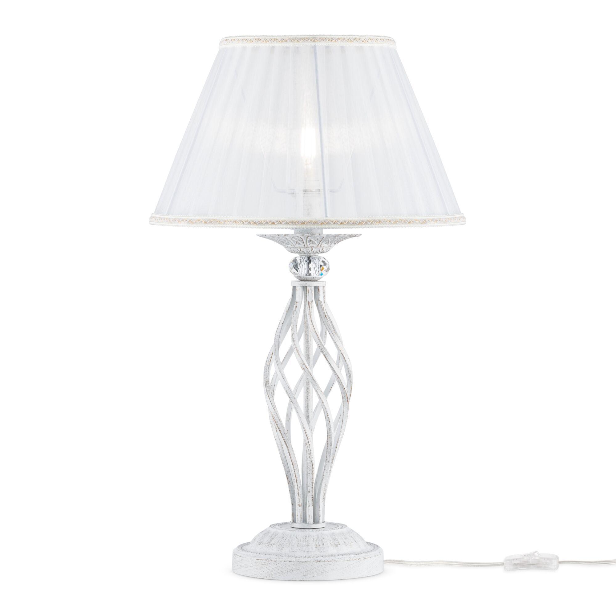 Настольная лампа Maytoni Grace ARM247-00-G, 1xE14x40W, белый с золотой патиной, белый, металл, текстиль - фото 2