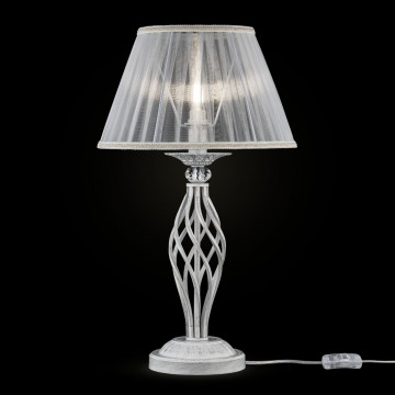 Настольная лампа Maytoni Grace ARM247-00-G, 1xE14x40W, белый с золотой патиной, белый, металл, текстиль - миниатюра 3