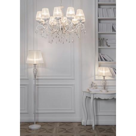 Настольная лампа Maytoni Grace ARM247-00-G, 1xE14x40W, белый с золотой патиной, белый, металл, текстиль - миниатюра 4