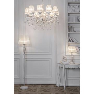 Настольная лампа Maytoni Grace ARM247-00-G, 1xE14x40W, белый с золотой патиной, белый, металл, текстиль - миниатюра 5