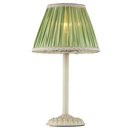 Настольная лампа Maytoni Olivia ARM325-00-W, 1xE14x40W, бежевый, зеленый, металл, текстиль