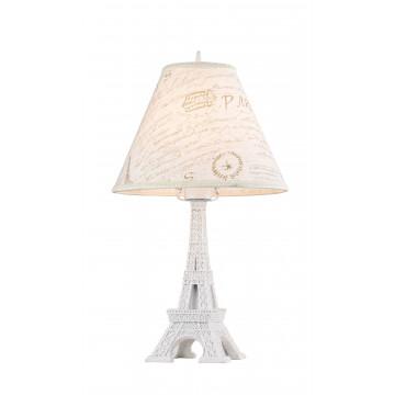 Настольная лампа Maytoni Paris ARM402-22-W, 1xE27x40W, белый, бежевый, металл, текстиль