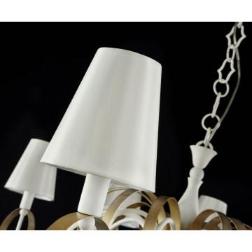 Подвесная люстра Maytoni Classic Elegant Intreccio ARM010-12-W, 12xE14x40W, белый, матовое золото, прозрачный, металл, текстиль, хрусталь - миниатюра 4