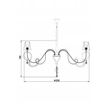 Схема с размерами Maytoni ARM010-12-W