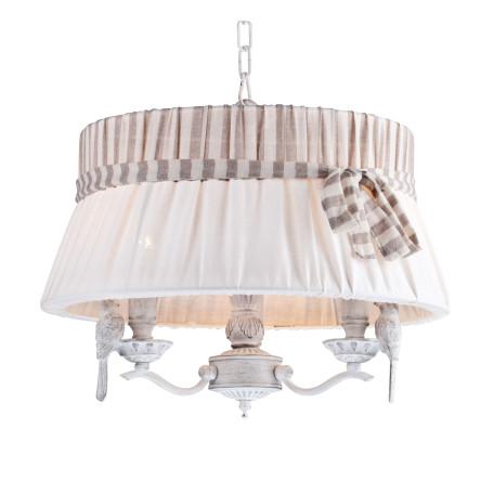 Подвесная люстра Maytoni Bird ARM013-33-W, 3xE14x40W, белый, бежевый, серый, металл, пластик, текстиль - миниатюра 2