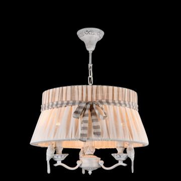 Подвесная люстра Maytoni Bird ARM013-33-W, 3xE14x40W, белый, бежевый, серый, металл, пластик, текстиль - миниатюра 3