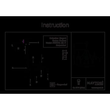 Схема с размерами Maytoni ARM220-05-R