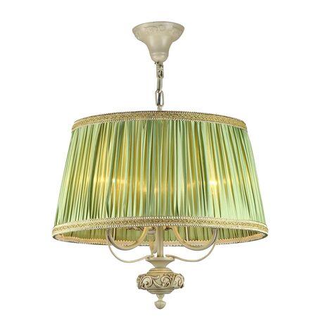 Подвесная люстра Maytoni Olivia ARM325-33-W, 3xE14x40W, бежевый, зеленый, металл, текстиль