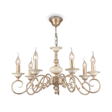 Подвесная люстра Maytoni Classic Elegant Perla ARM337-07-R, 7xE14x60W, бежевый, матовое золото, металл
