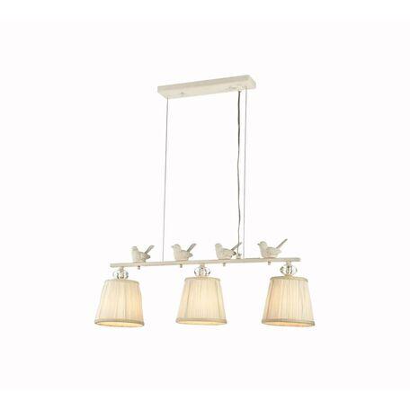 Подвесной светильник Maytoni Flitter ARM012-03-W, 3xE14x40W, белый, прозрачный, металл, пластик, текстиль