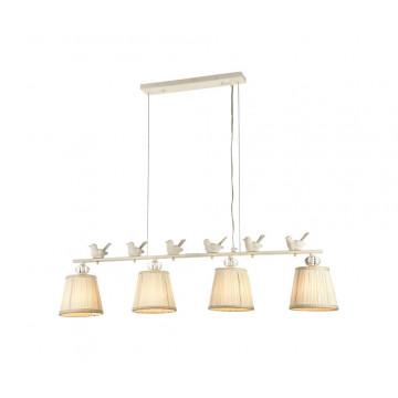 Подвесной светильник Maytoni Flitter ARM012-04-W, 4xE14x40W, белый, прозрачный, металл, пластик, текстиль