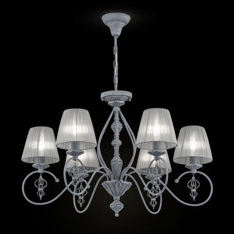 Потолочно-подвесная люстра Maytoni Classic Elegant Monsoon ARM154-06-S, 6xE14x40W, серый, металл, текстиль - миниатюра 1