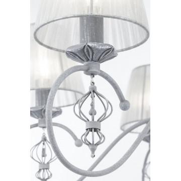 Потолочно-подвесная люстра Maytoni Classic Elegant Monsoon ARM154-06-S, 6xE14x40W, серый, металл, текстиль - миниатюра 5