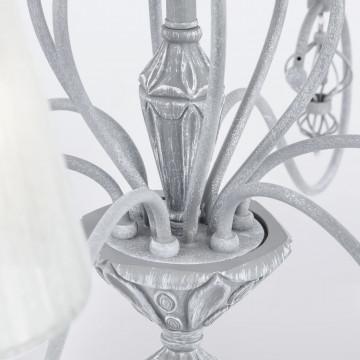 Потолочно-подвесная люстра Maytoni Classic Elegant Monsoon ARM154-06-S, 6xE14x40W, серый, металл, текстиль - миниатюра 9