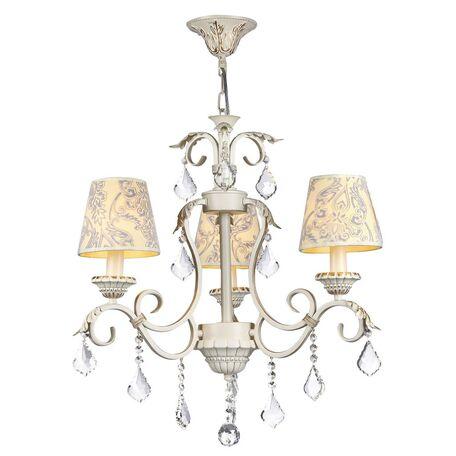Подвесная люстра Maytoni Velvet ARM219-03-G, белый, матовое золото, бежевый, прозрачный, металл, текстиль, хрусталь