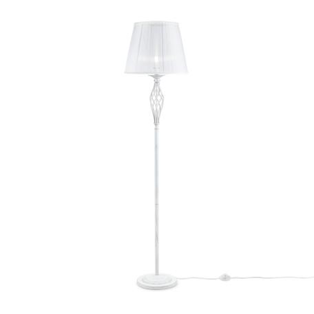 Торшер Maytoni Grace ARM247-11-G, 1xE14x40W, белый с золотой патиной, прозрачный, белый, металл, текстиль