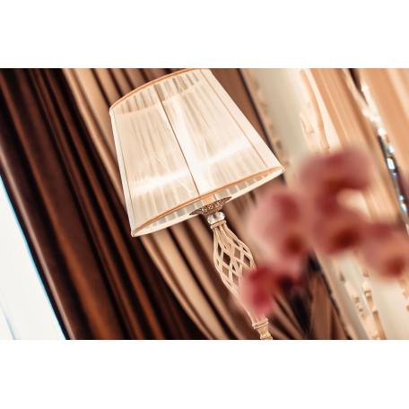 Торшер Maytoni Royal Classic Grace ARM247-11-G, 1xE14x40W, белый с золотой патиной, белый, металл, текстиль - миниатюра 5