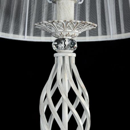 Торшер Maytoni Royal Classic Grace ARM247-11-G, 1xE14x40W, белый с золотой патиной, белый, металл, текстиль - миниатюра 7