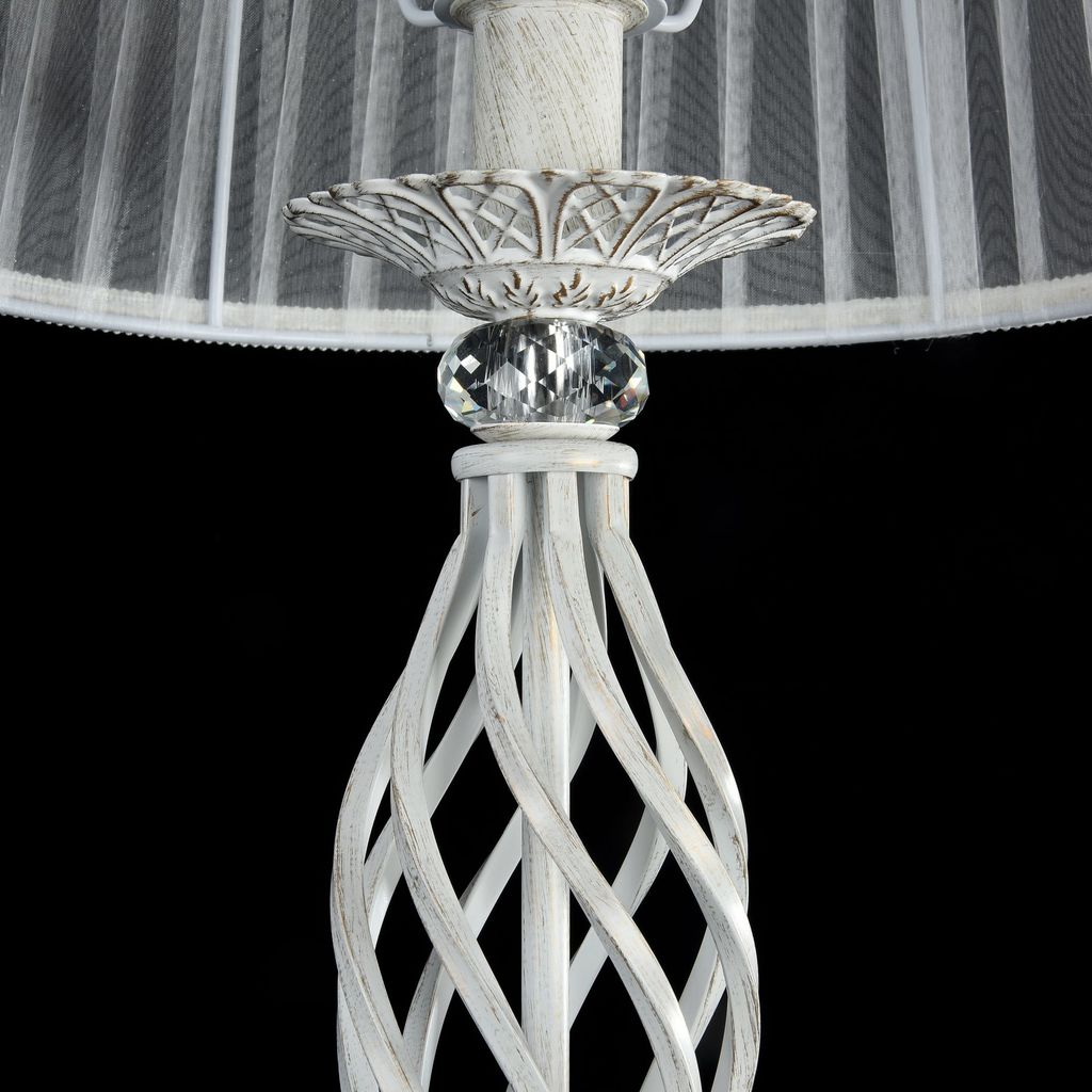 Торшер Maytoni Royal Classic Grace ARM247-11-G, 1xE14x40W, белый с золотой патиной, белый, металл, текстиль - фото 7