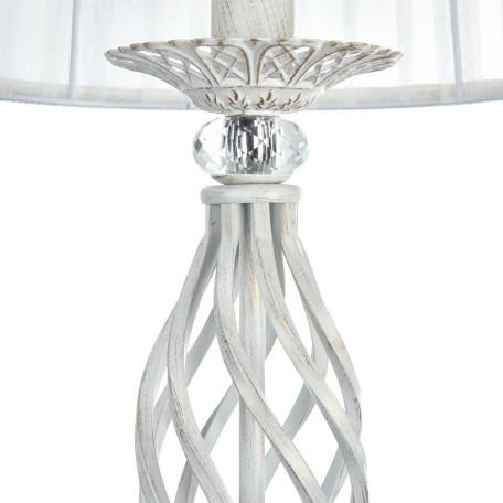 Торшер Maytoni Royal Classic Grace ARM247-11-G, 1xE14x40W, белый с золотой патиной, белый, металл, текстиль - миниатюра 8