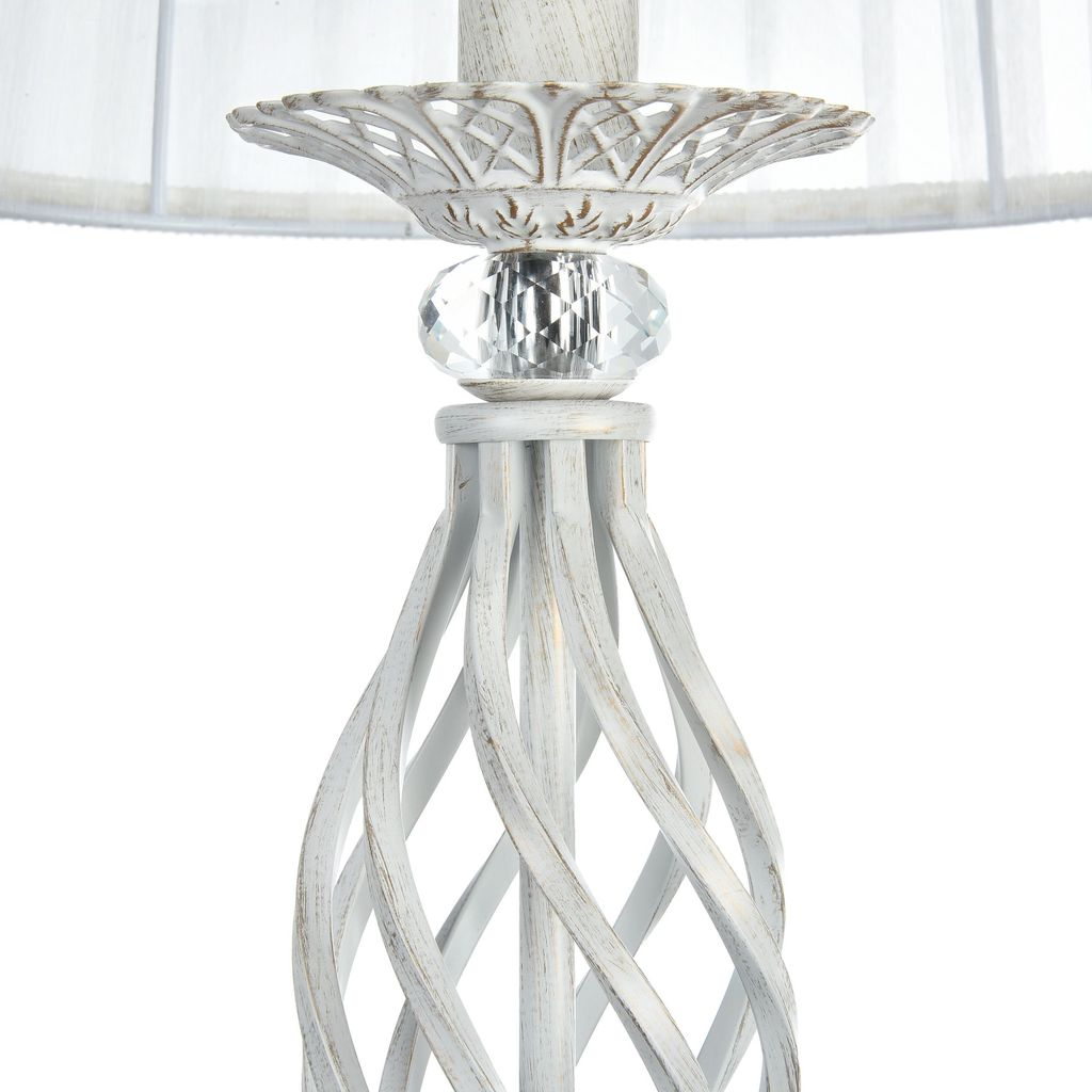 Торшер Maytoni Royal Classic Grace ARM247-11-G, 1xE14x40W, белый с золотой патиной, белый, металл, текстиль - фото 8