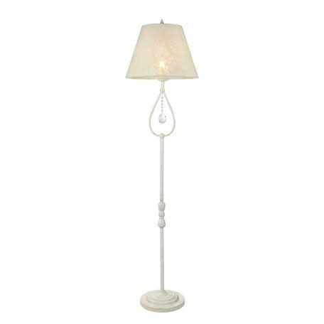 Торшер Maytoni Talia 1 ARM334-00-W, 1xE27x40W, белый, прозрачный, металл, текстиль, стекло