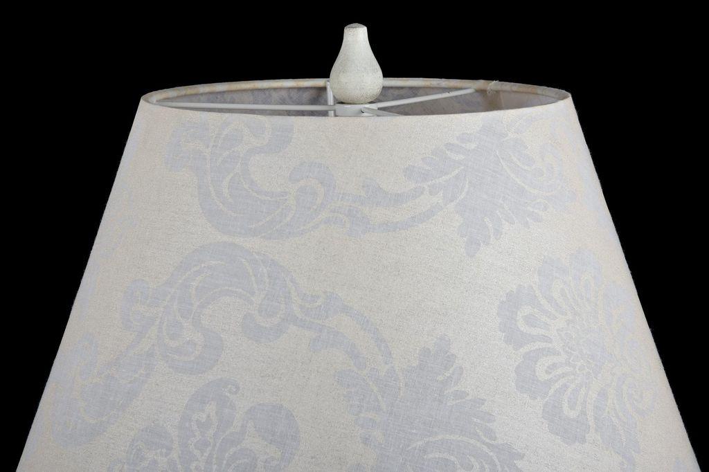 Торшер Maytoni Talia 1 ARM334-00-W, 1xE27x40W, белый, прозрачный, металл, текстиль, стекло - фото 5