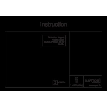 Схема с размерами Maytoni ARM334-00-W