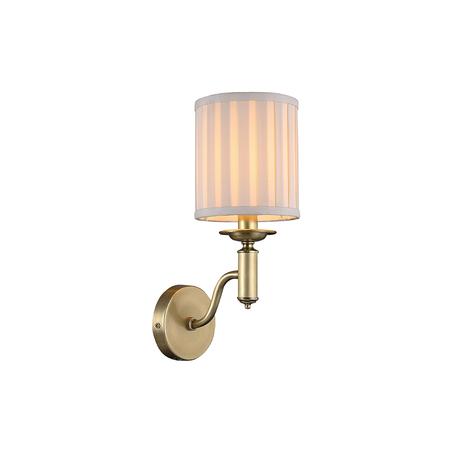 Бра Newport 3361/A brass, 1xE14x60W, бронза, бежевый, металл, текстиль