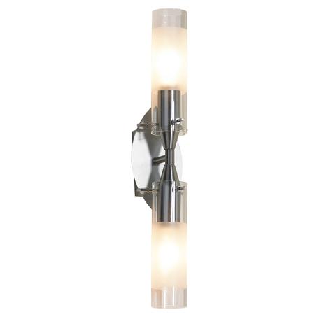 Бра Lussole LGO Leinell LSA-0221-02, никель, белый, металл, стекло