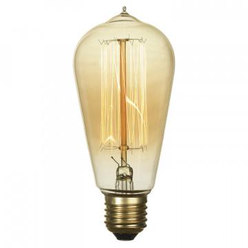 Лампа накаливания Lussole Loft Edisson GF-E-764 прямосторонняя груша E27 60W 220V, диммируемая