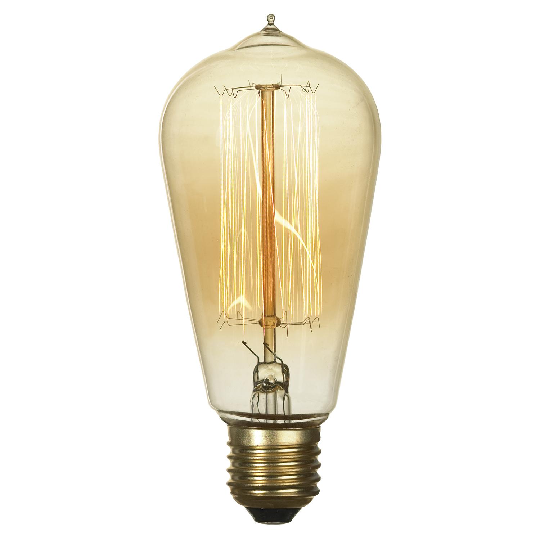 Лампа накаливания Lussole Loft Edisson GF-E-764 прямосторонняя груша E27 60W 220V, диммируемая - фото 1