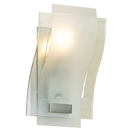Настенный светильник Lussole Loft Tarchi LSA-0861-01, IP21, 1xE27x100W, никель, белый, металл, стекло