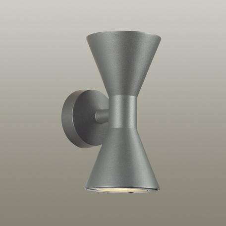 Настенный светильник Odeon Light Axen 4610/10WL, IP65, 2xGU10x5W, черный, металл, стекло