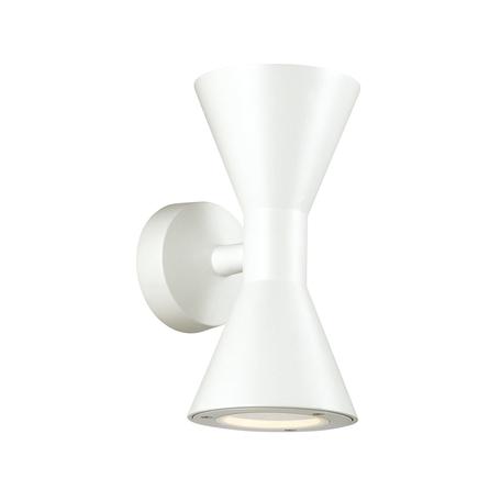Настенный светильник Odeon Light Nature Axen 4611/10WL, IP65, 2xGU10x5W, белый, металл, стекло