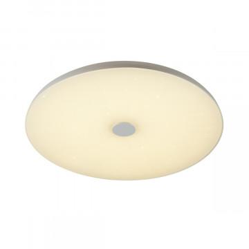 Музыкальный потолочный светодиодный светильник Sonex Vasta LED Roki Muzcolor 4629/EL, LED 72W 318034805300lm, белый, пластик